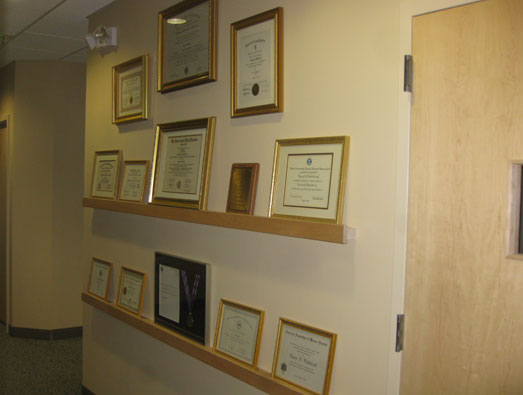 Some of Doc's honors and certificates